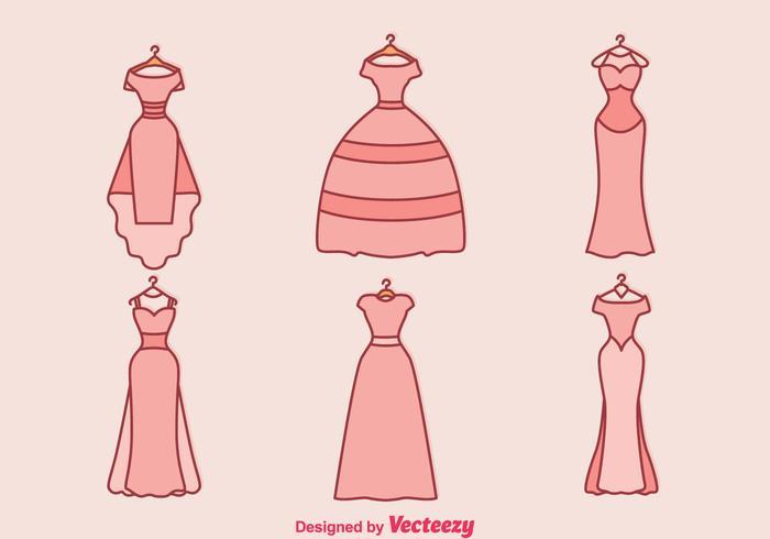 Vector Vestido De Novia - Descargue Gráficos y Vectores Gratis