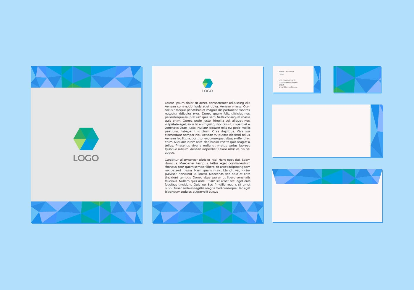 free blue vector letterhead design download free vector art stock