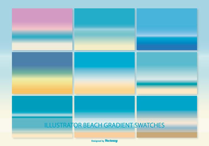 Illustrator gradient beach swatches