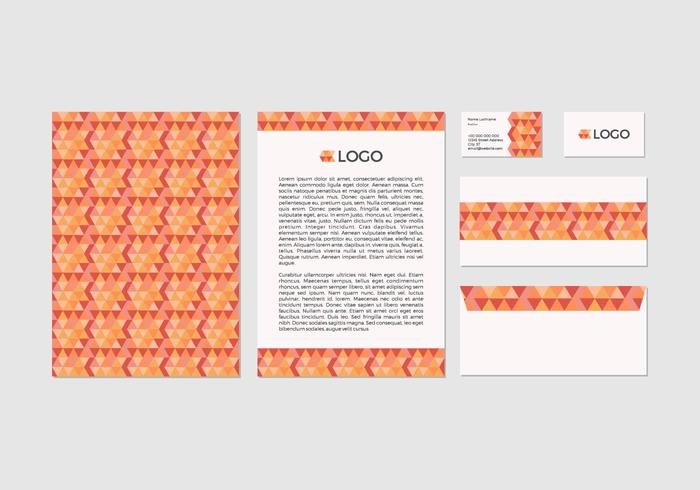 Free Abstract Vector Letterhead Design