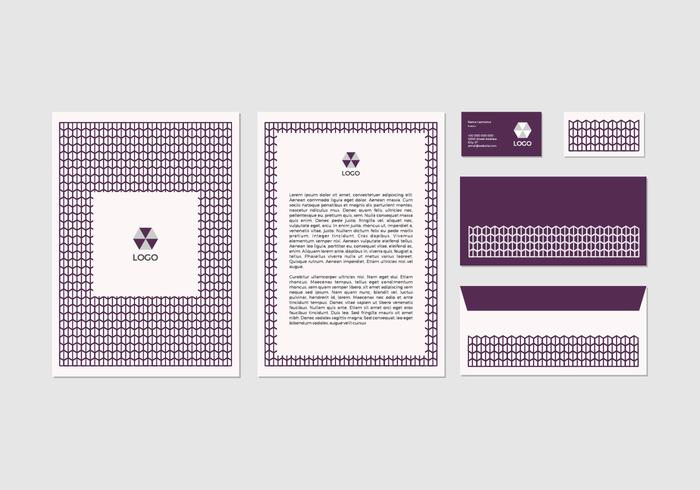 Free Purple Vector Letterhead Design