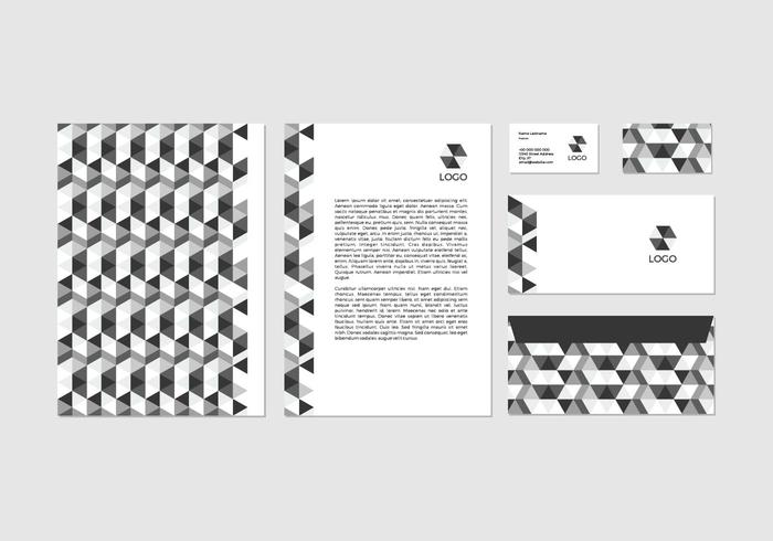 Free Black Vector Letterhead Design