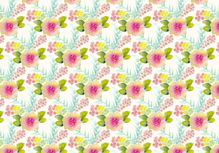 Free Vector Watercolor Floral Background