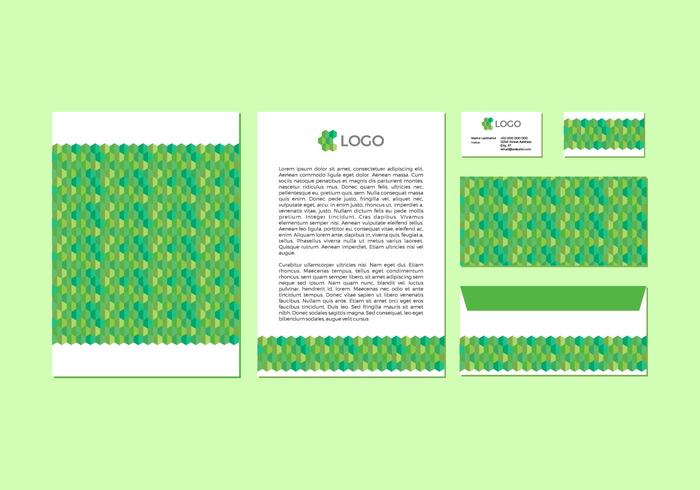 Free Green Vector Letterhead Design