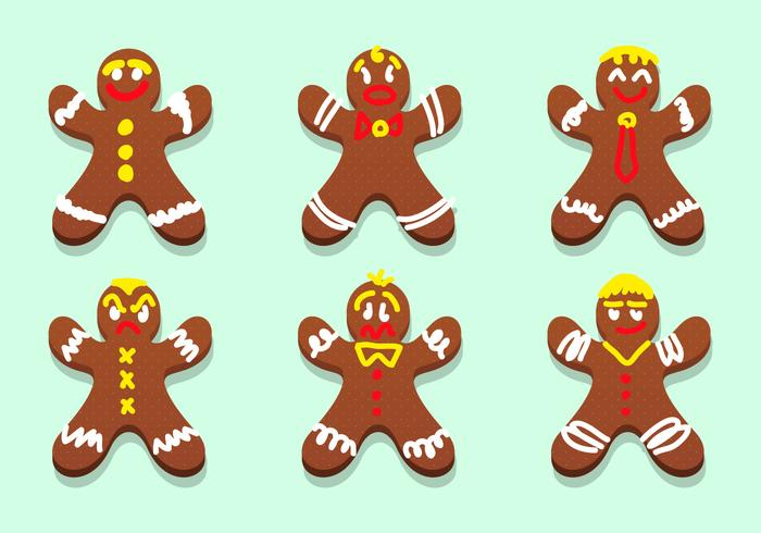 Lebkuchen Gingerbread Characters Vector