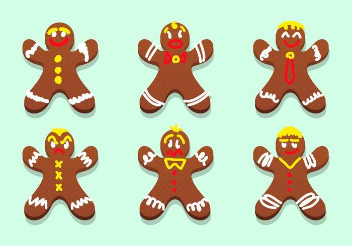 Lebkuchen Gingerbread Personnages Vector