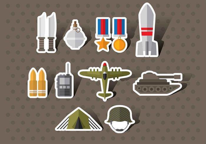 Vetores de ícones da Segunda Guerra Mundial