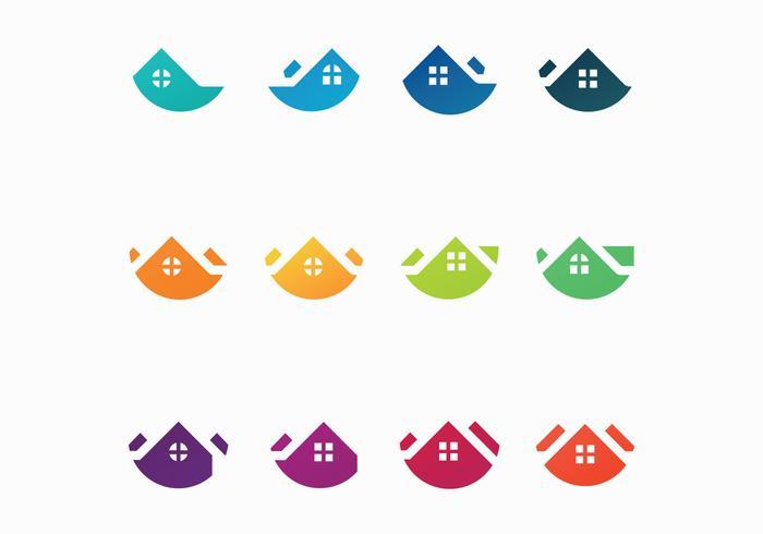 Vecteurs de logo gratuits sur les toits