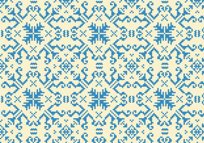 Stitching Blue Pattern
