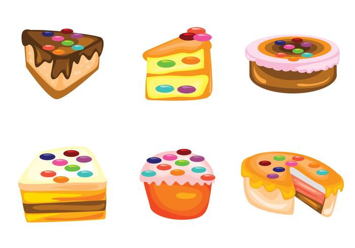 Cake with Smarties Vectors