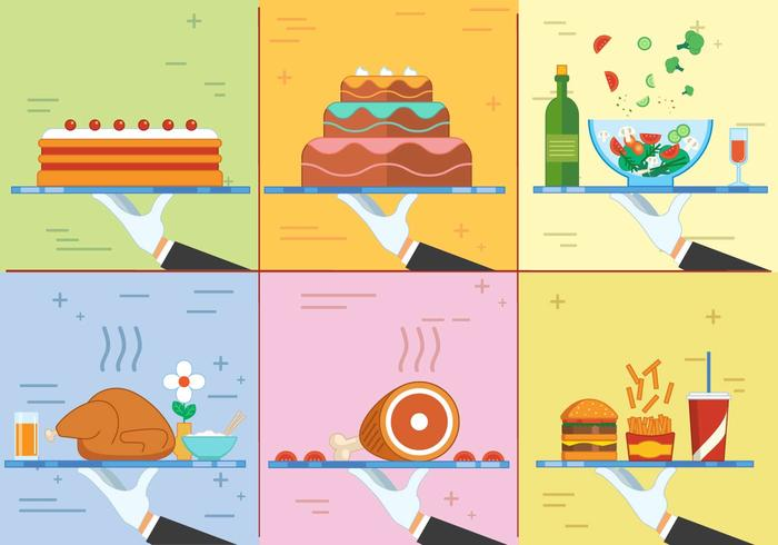 Free Flat Design Vector  Food