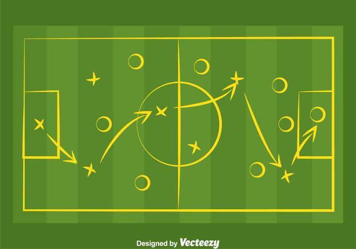 Vector de Playbook de Futebol