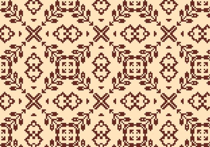 Costurando padrão floral marrom