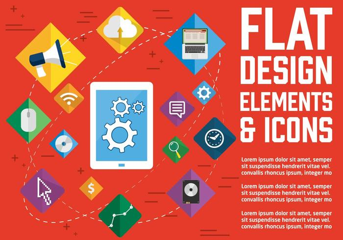 Free Flat Design Vector Icons