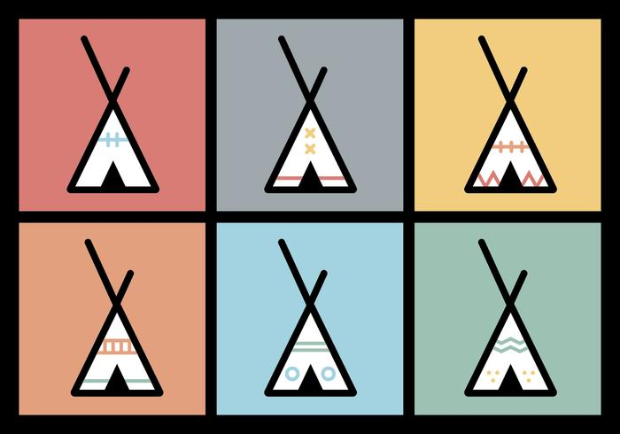 Tipi vector illustrations 2