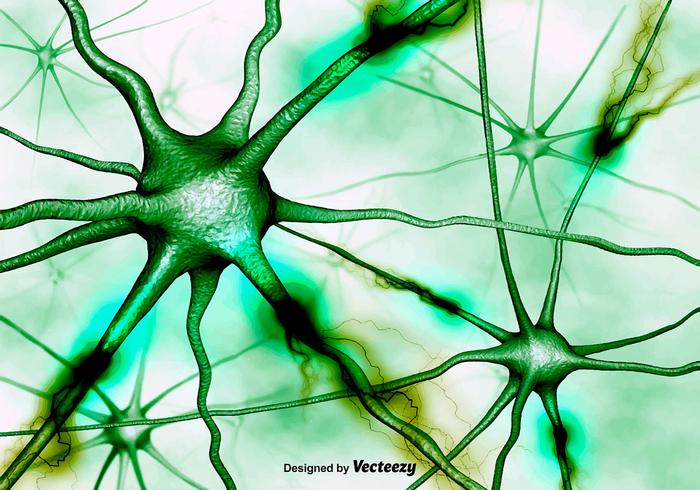 Abstract Neurons Background Vector 3D Background