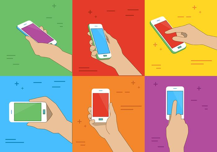 Phone Holding Vector Illustration