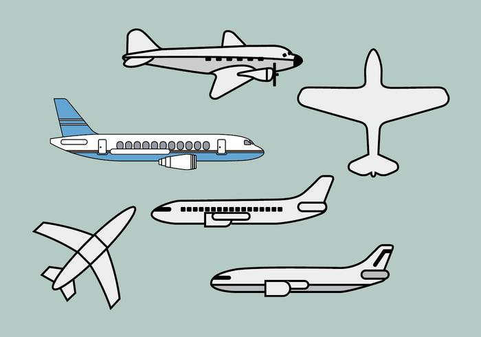 Avion vector illustrations 1