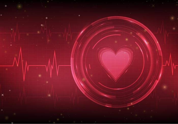 Heart Monitor Free Vector Background