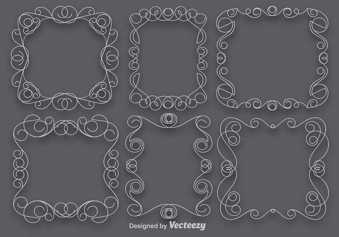 Vector Set Of Scrollwork Art Frames