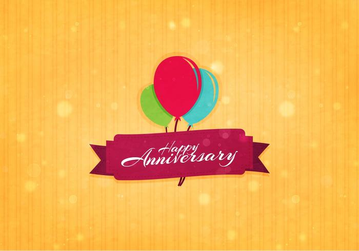Free Vector Aniversario Background