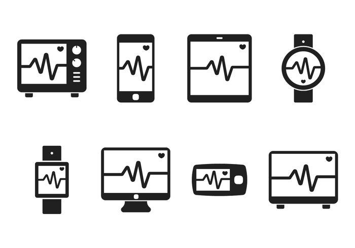 Heart Monitor Icon vector