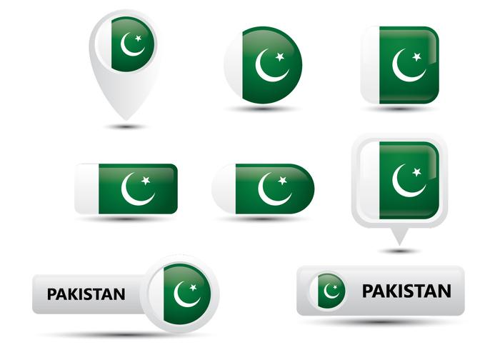 Pakistan Glanzende Knoop vector