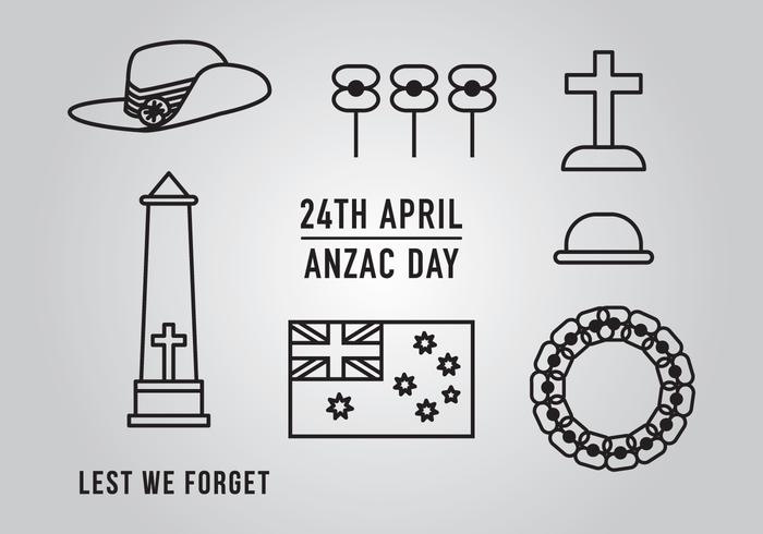 Anzac Day Element Vectors