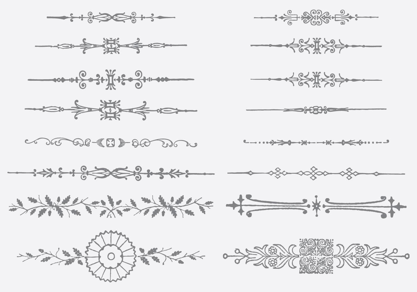 ornamental dividers download free vector art stock
