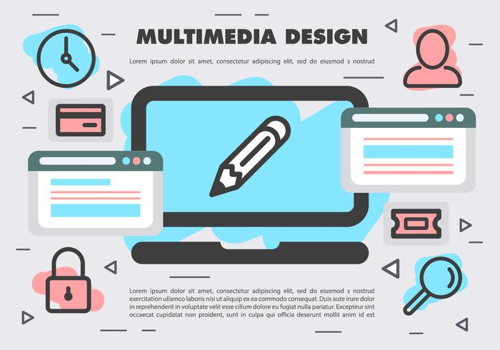 Free Vector Multimedia Design
