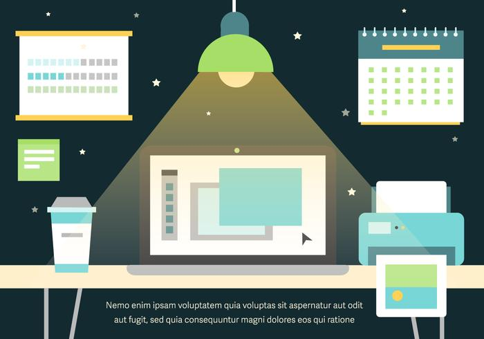 Free Graphic Work Space Vector