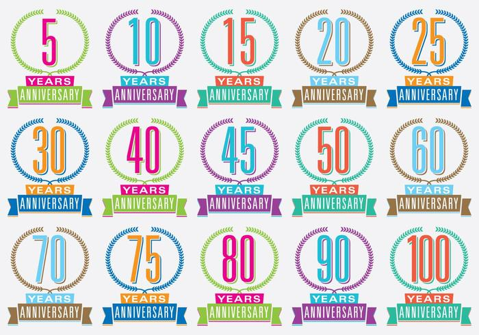 Colorful Anniversary Titles