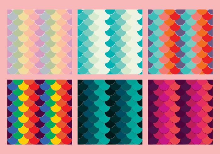 Free Fish Scales Vector Pattern 5