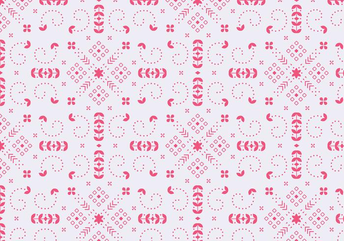Decorative Floral Red Pattern
