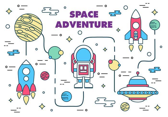 Free Space Adventure Vector Illustration