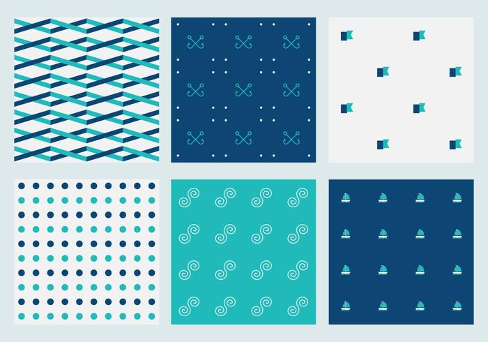 Free Vector Marine Patterns 5