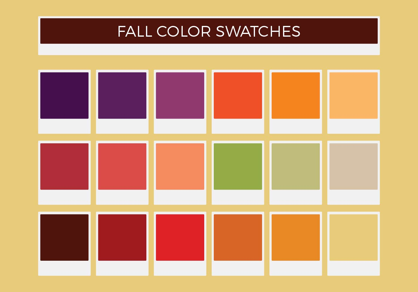 Free Fall Vector Color Swatches - Download Free Vector Art, Stock ...