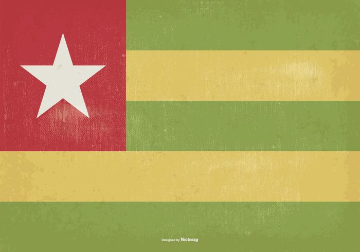 Vintage Togo Flagge Illustration