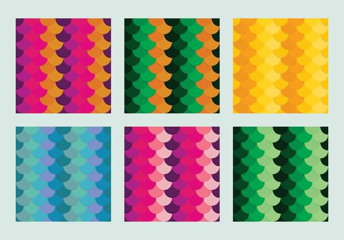 Free Fish Scales Vector Pattern 2