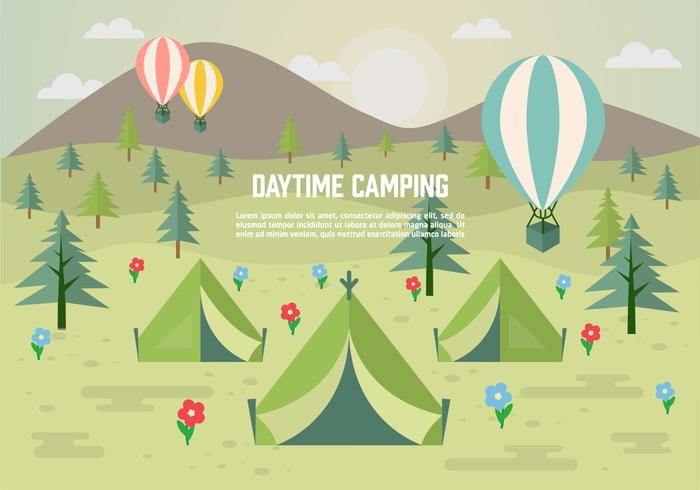 Free Daytime Vector Camping