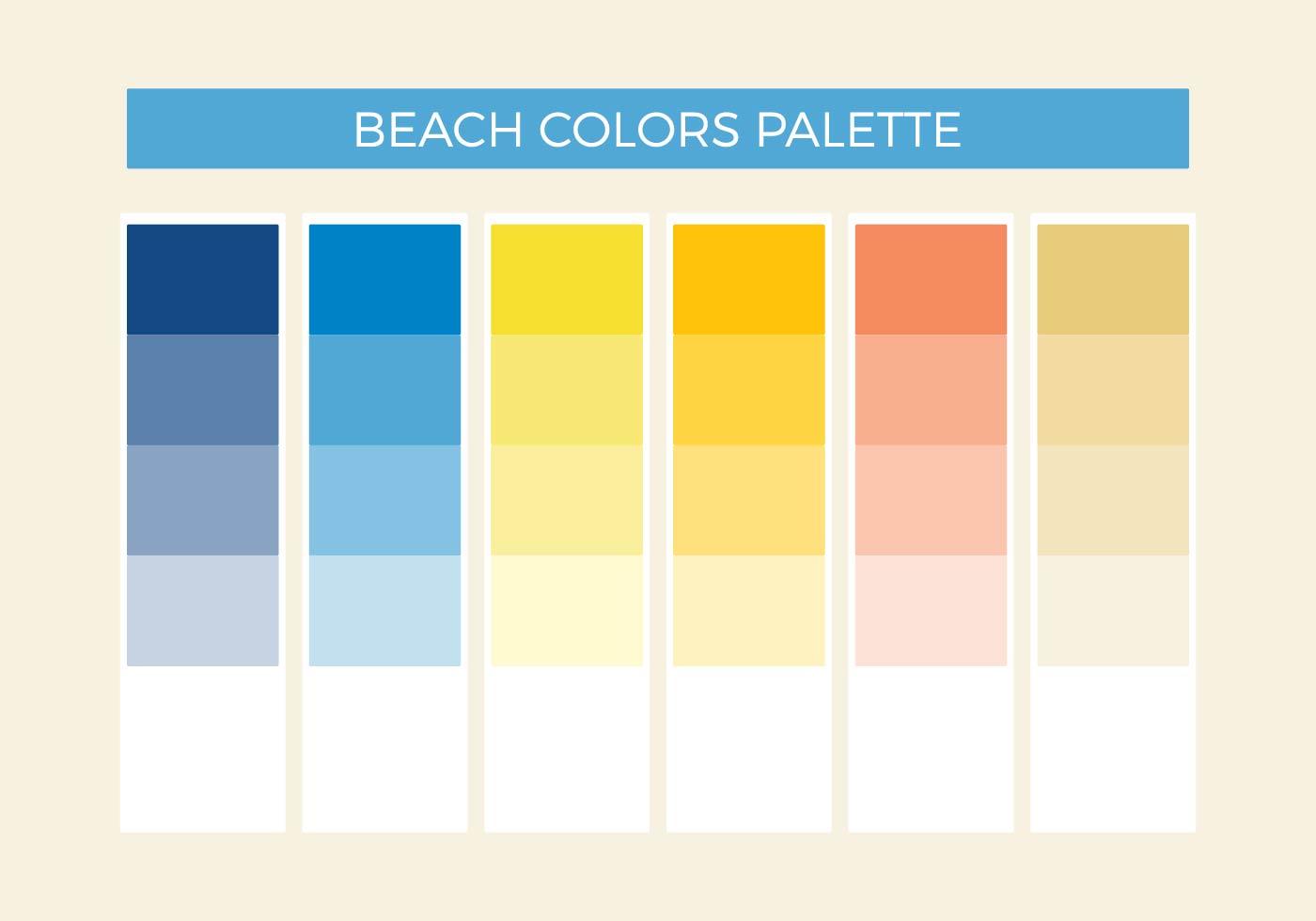 Beach Colors Vector Palette Download Free Vector Art