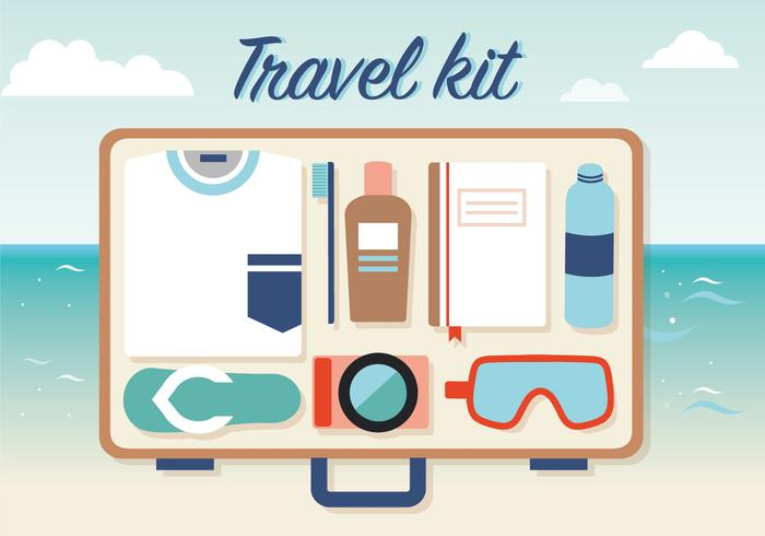 Free Travel Kit Vektor