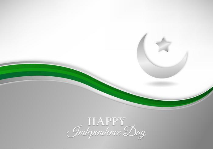 Kostenlose Vektor-Illustration mit Pakistan Flagge