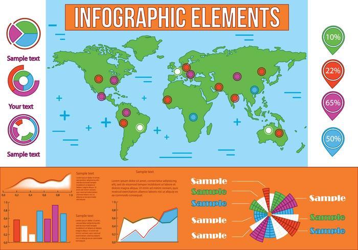 Elementos vetoriais de infografia gratuitos