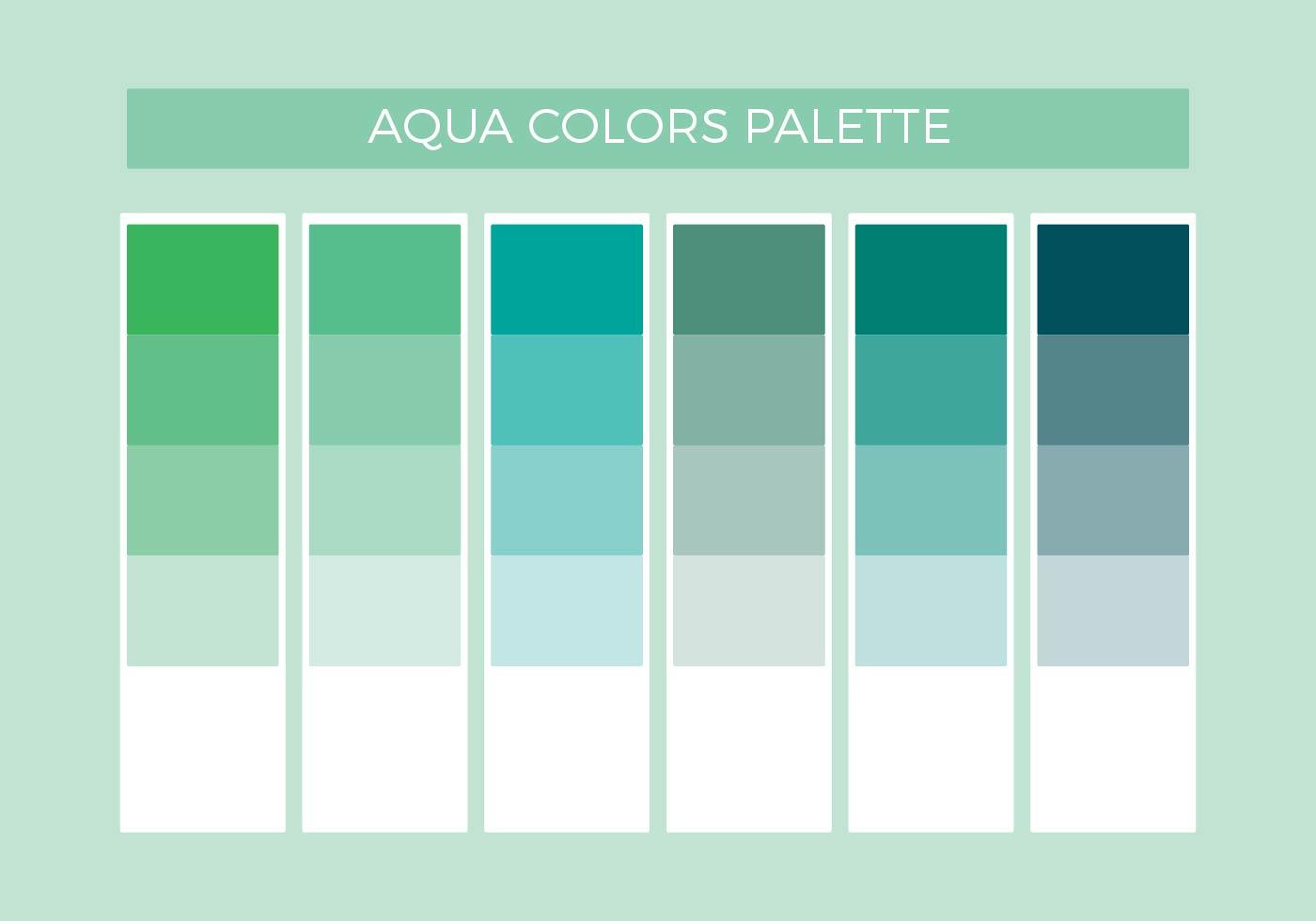 aqua colors vector palette