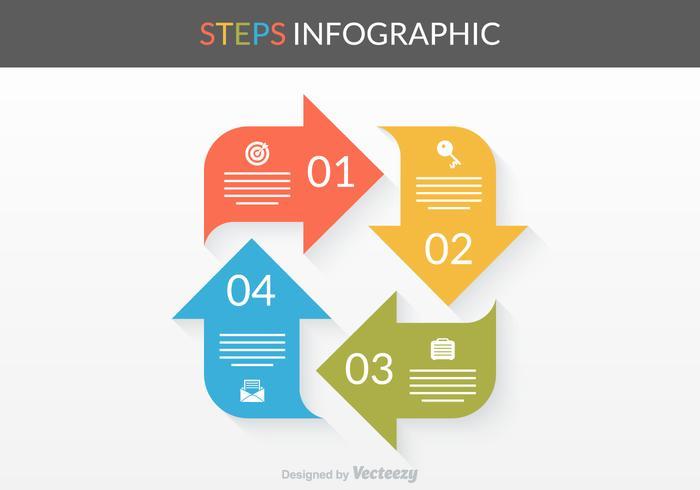 Gratis Vector Stappen Infographic