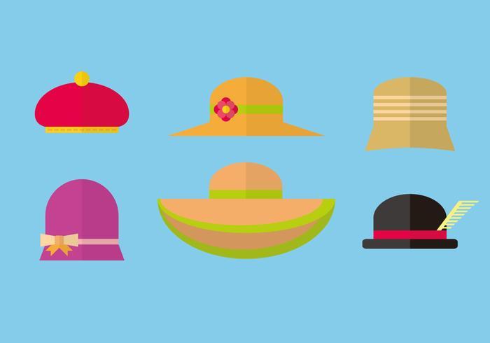 Vário vetor de chapéu