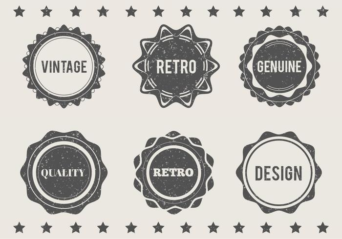 Gratis Vector Grungy Eroded Labels