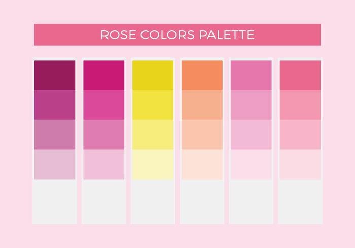 Rose Colors Vector Palette