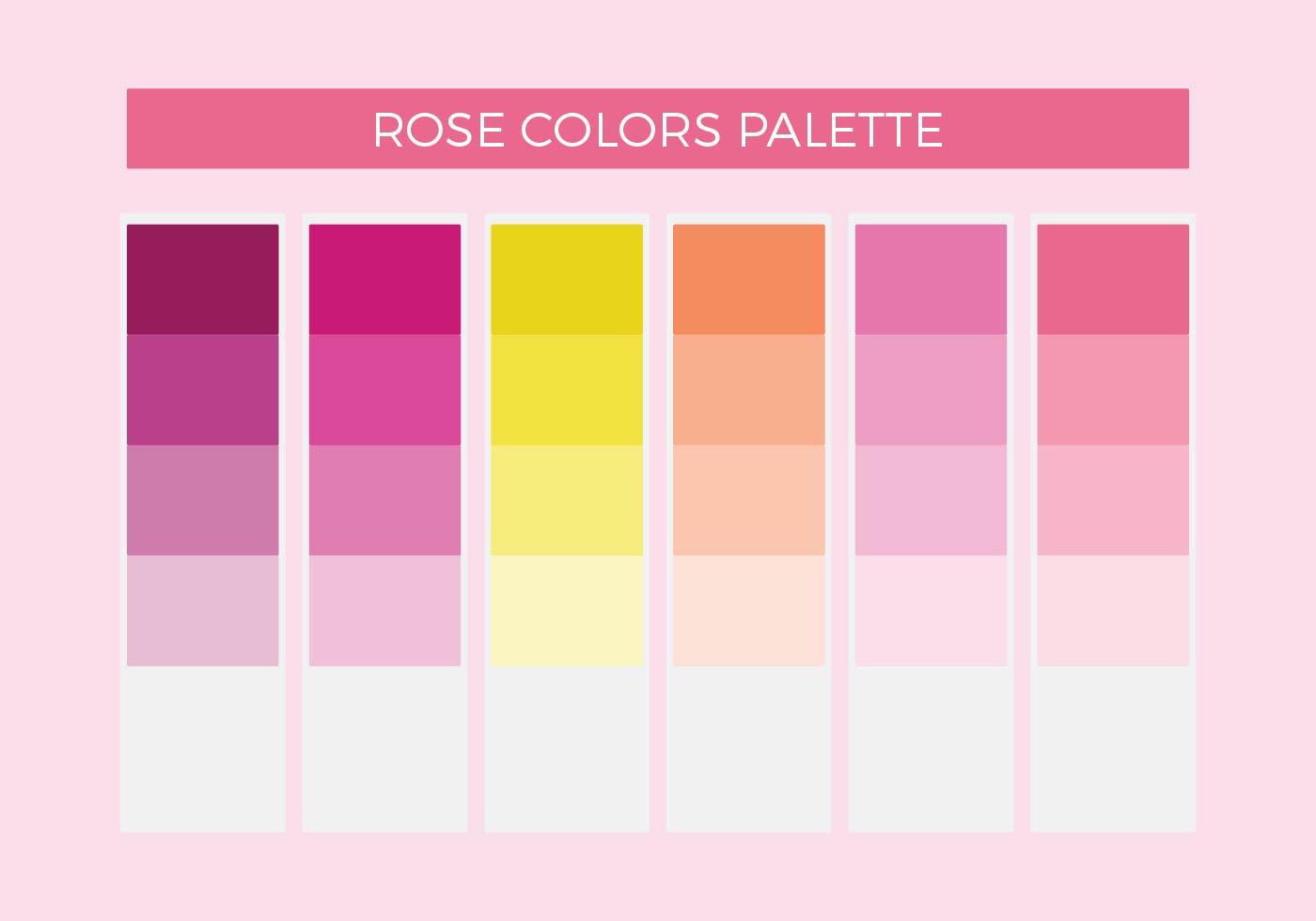 rose colors vector palette